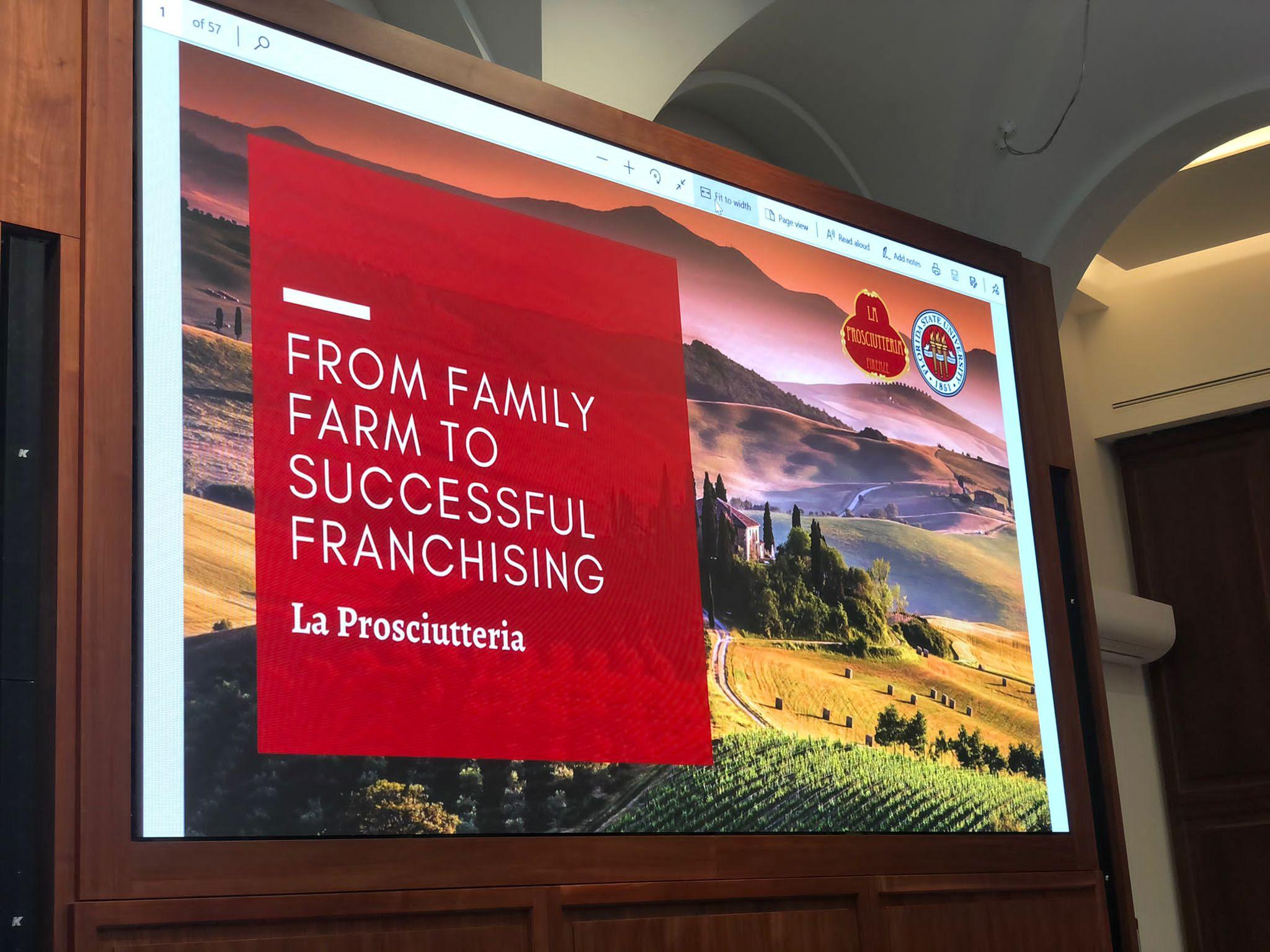 La Prosciutteria da azienda agricola familiare a franchising di successo!